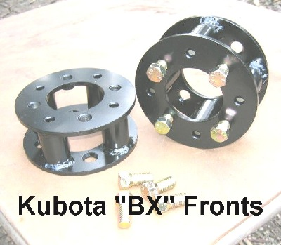 Front Axle Wheel Spacers for Kubota BX Series Compact Tractor